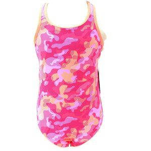 RBX Pink Camouflage Racerback Swimsuit Girls Sz 16